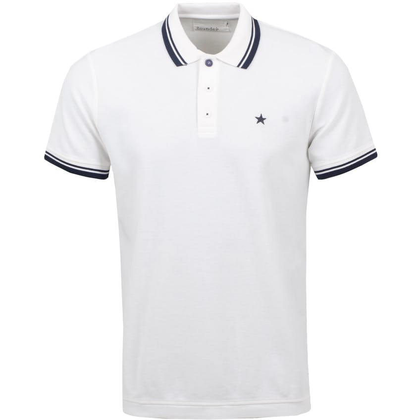 Tipped Play Well Polo White/Navy - AW21 0