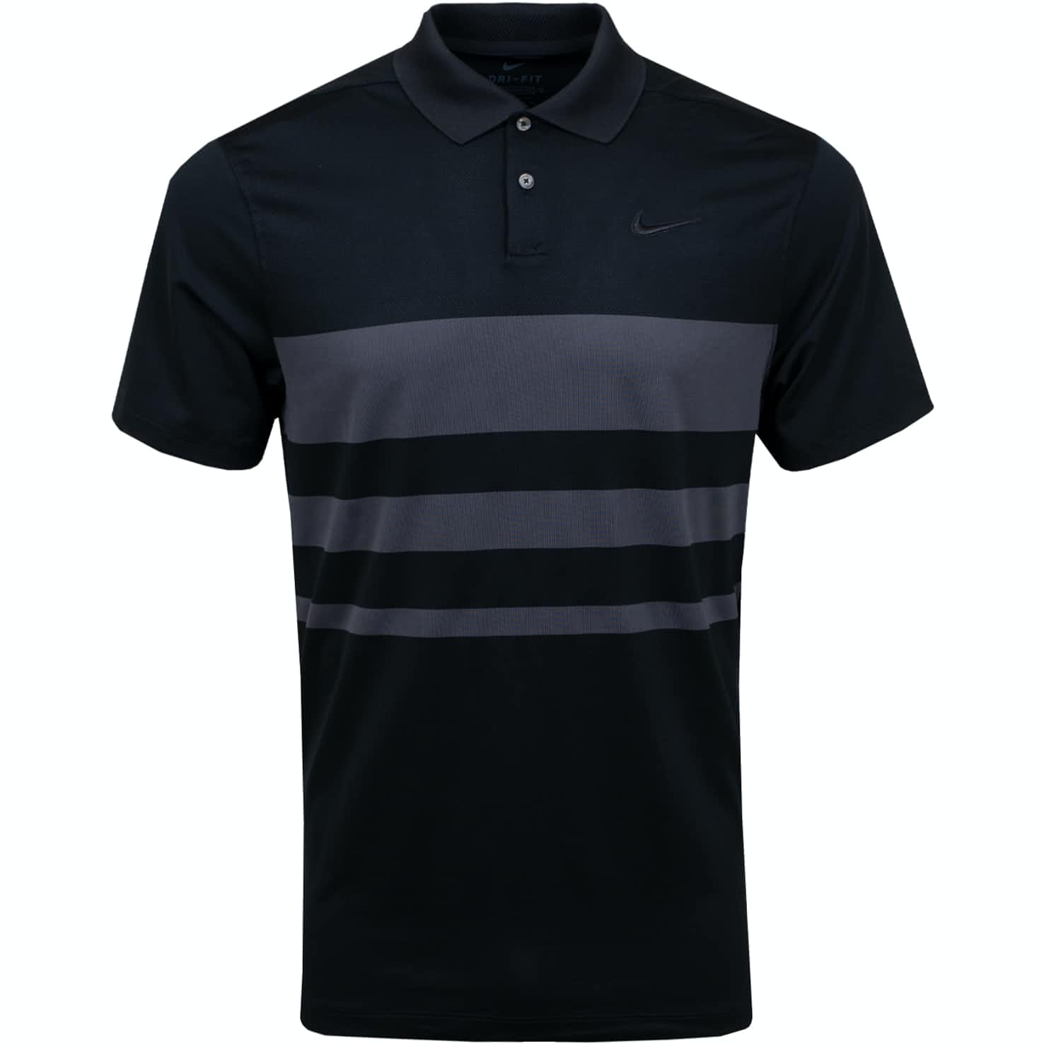 Dry Vapor Stripe Polo Black - SS20