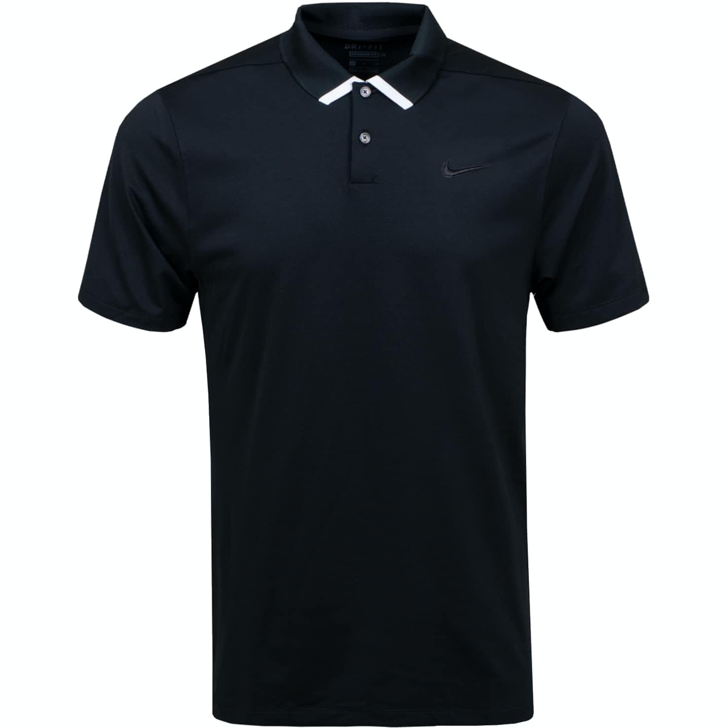 Dry Vapor Solid Polo Black - SS20