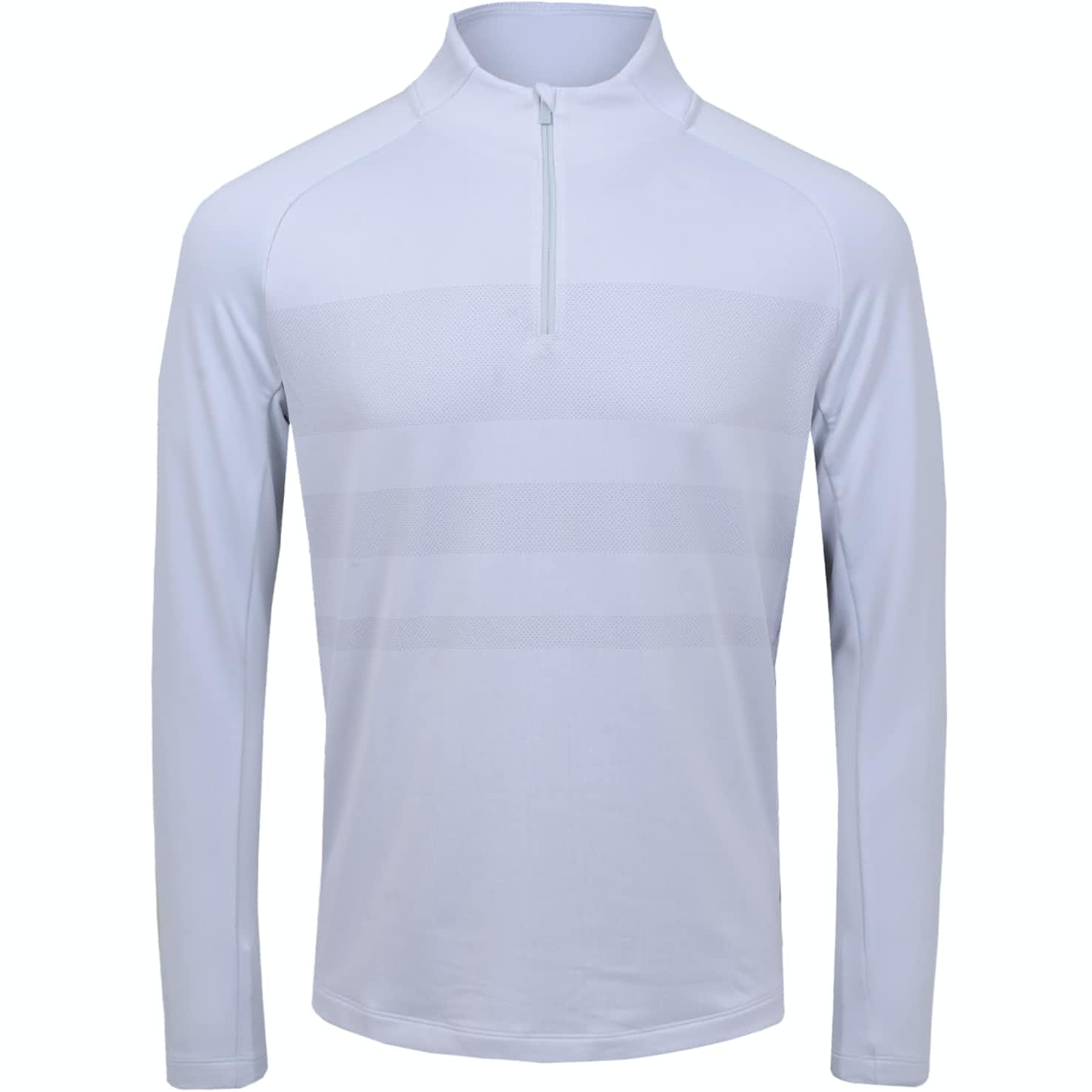 Dry Half Zip Statement Top White/Sky Grey - SS20
