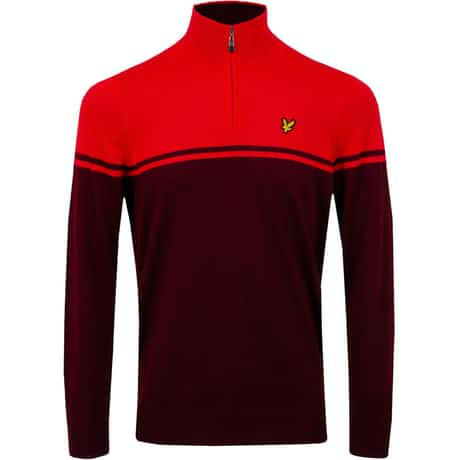 Croft Quarter Zip Pullover Turbo Red - SS20
