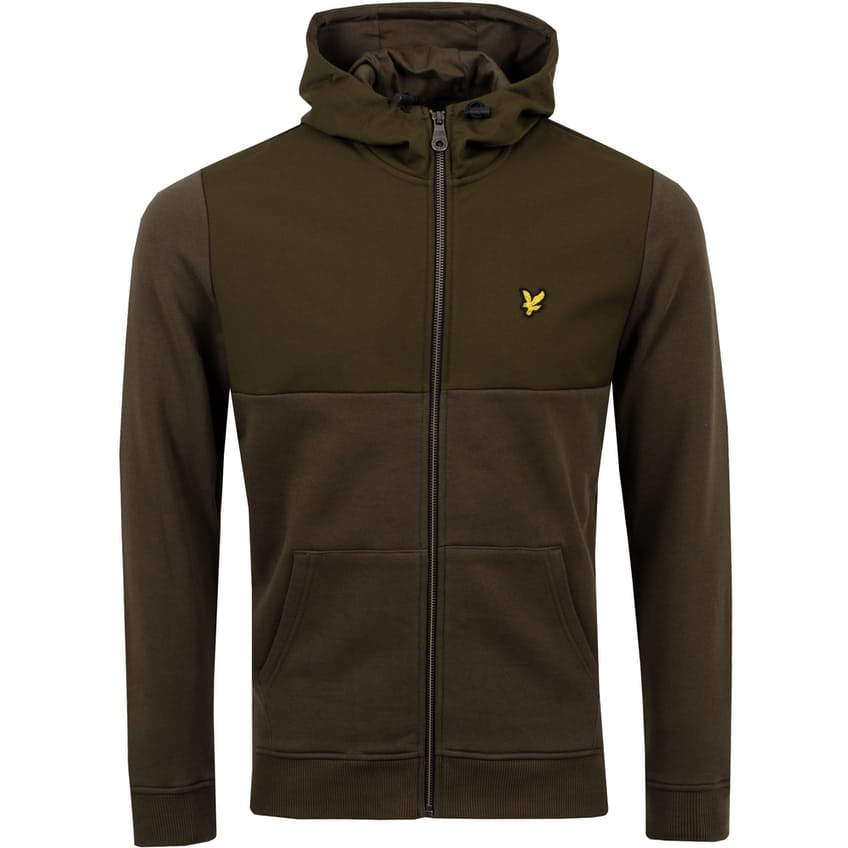 Softshell Jersey Full Zip Hoodie Olive - AW21 0