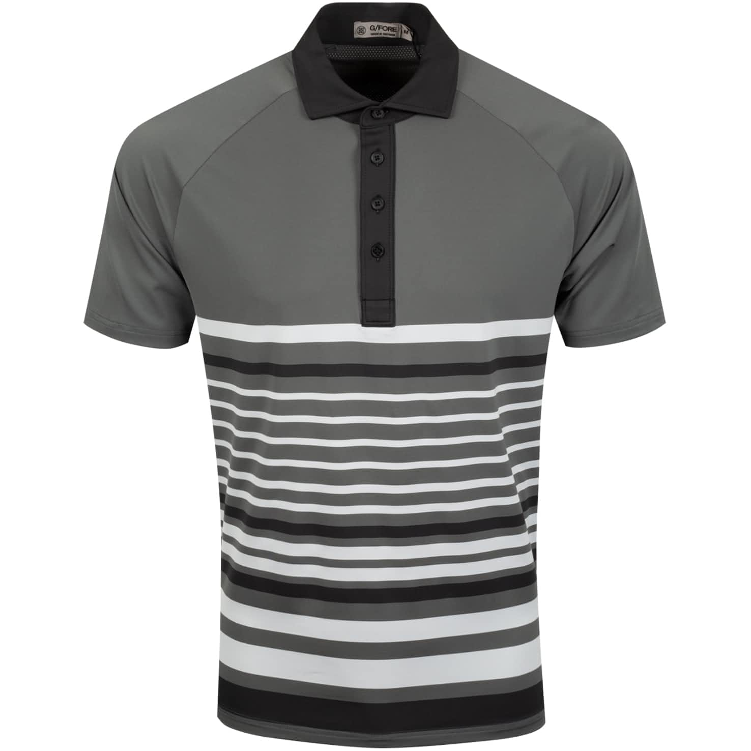Variegated Stripe Polo Charcoal - SS20
