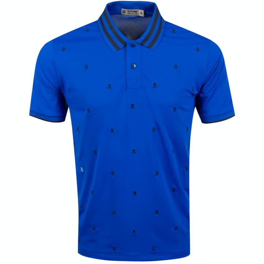 Skull & T's Embroidered Polo Sapphire - SS20