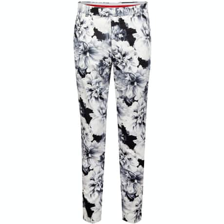 Printed Floral Trousers Onyx/Snow - SS20
