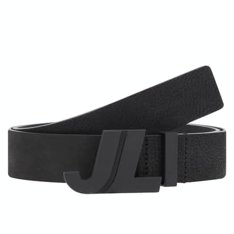 Iconic Brushed Leather Belt Black - SS20