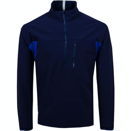 Bunker Stretch Wool Half Zip French Navy - SS20