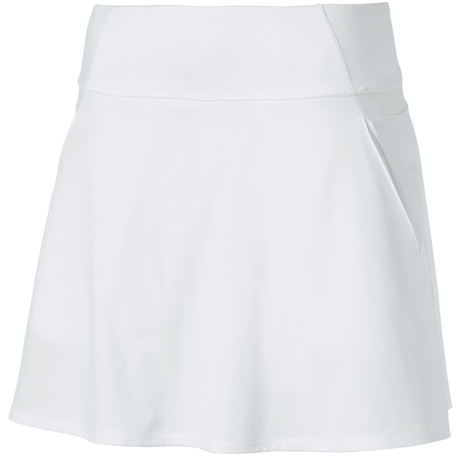 Womens PWRSHAPE Solid Woven Skirt Bright White - SS20