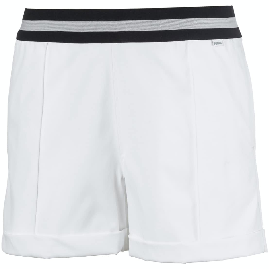 Womens Elastic Shorts Bright White - SS20