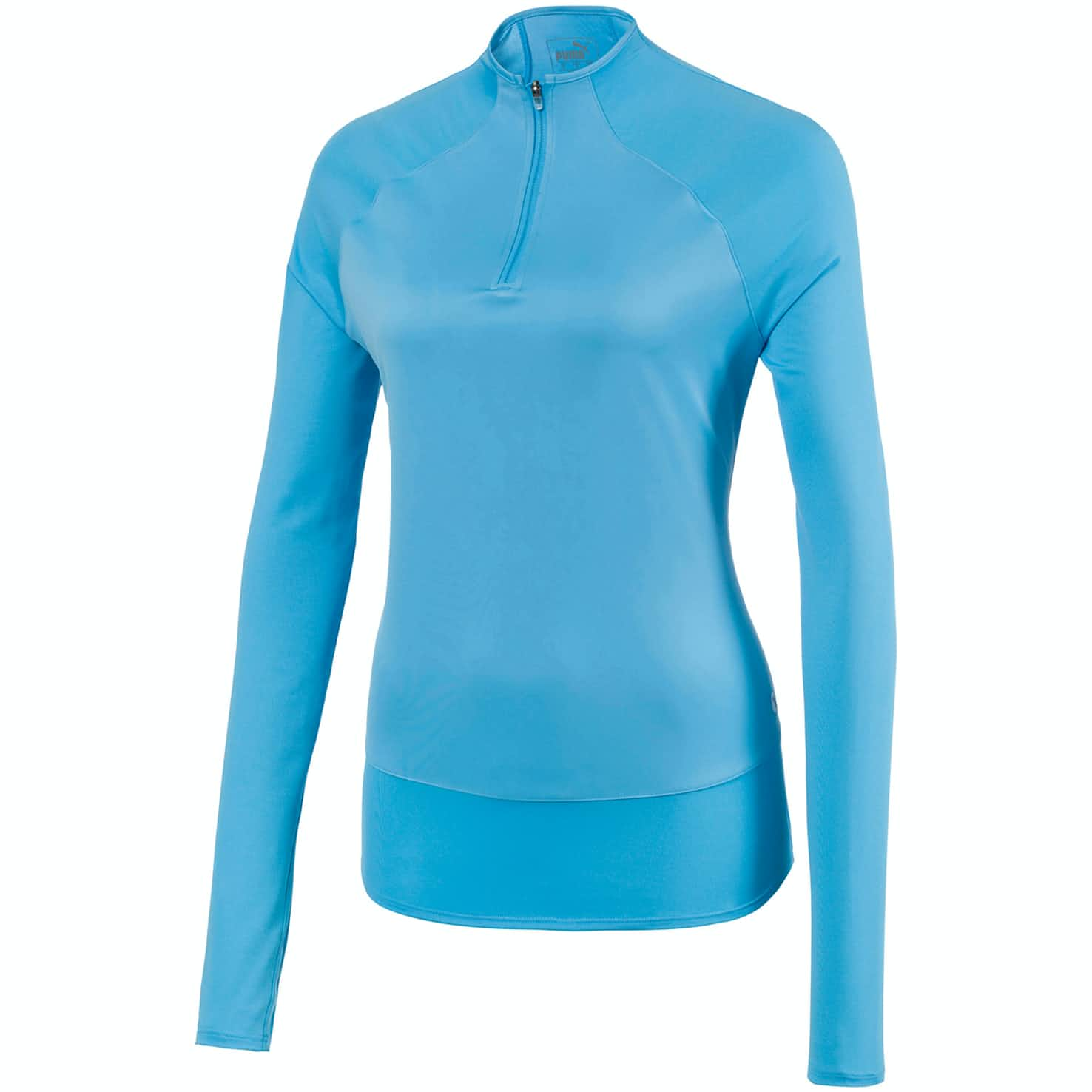 Womens Mesh Quarter Zip Ethereal Blue - SS20