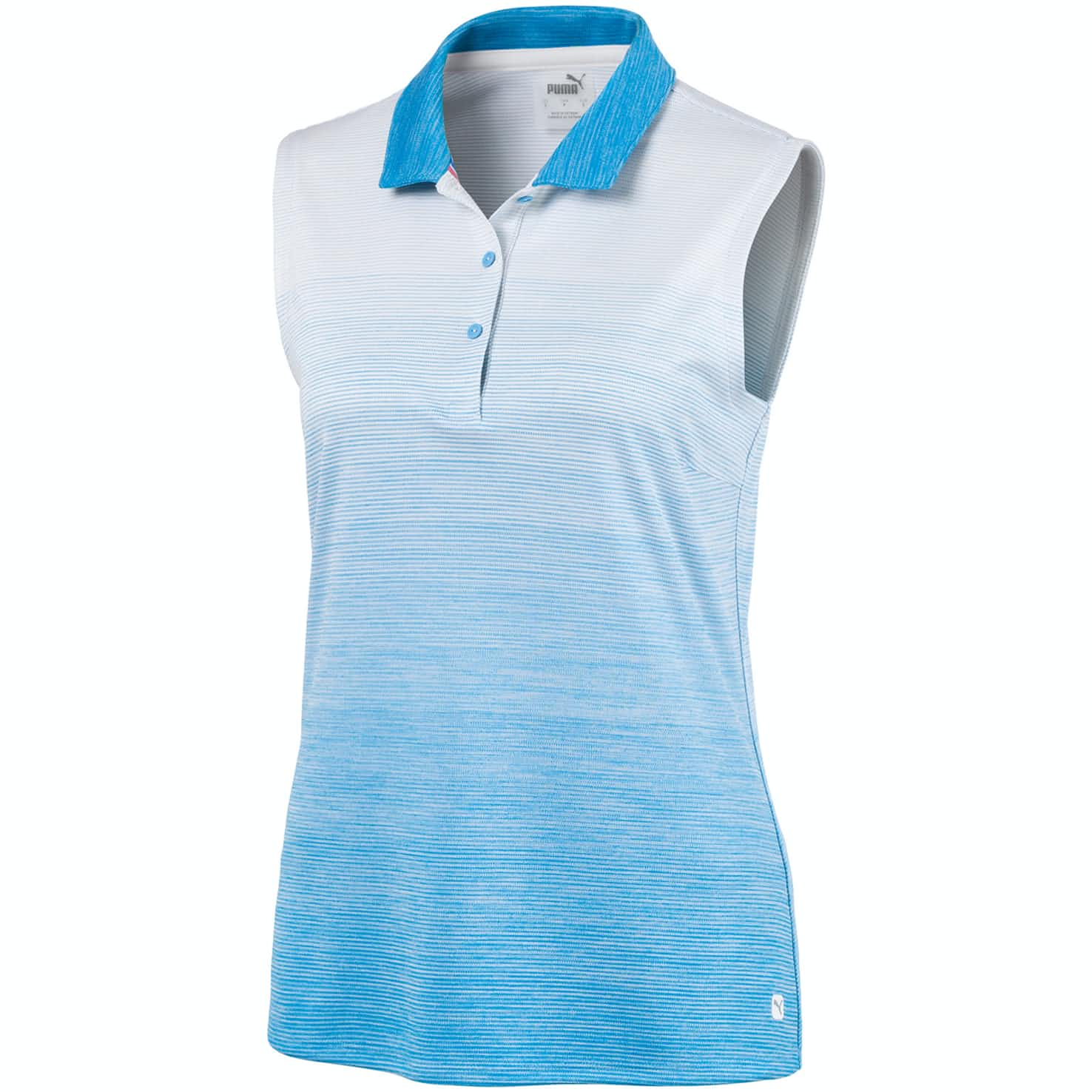 Womens Ombre Sleeveless Polo Ethereal Blue - SS20