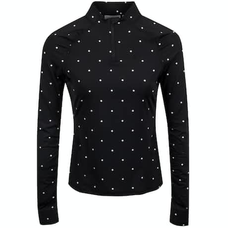 Womens Stars Quarter Zip Onyx/Snow - SS20