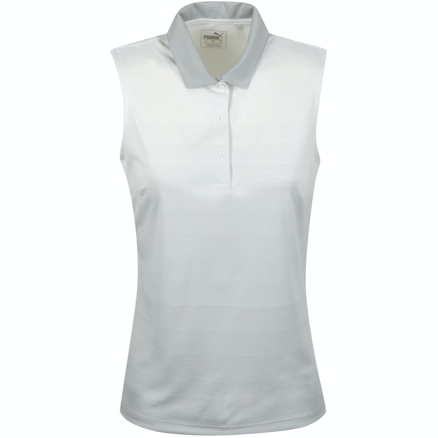 Womens Ombre Sleeveless Polo Bright White - SS20