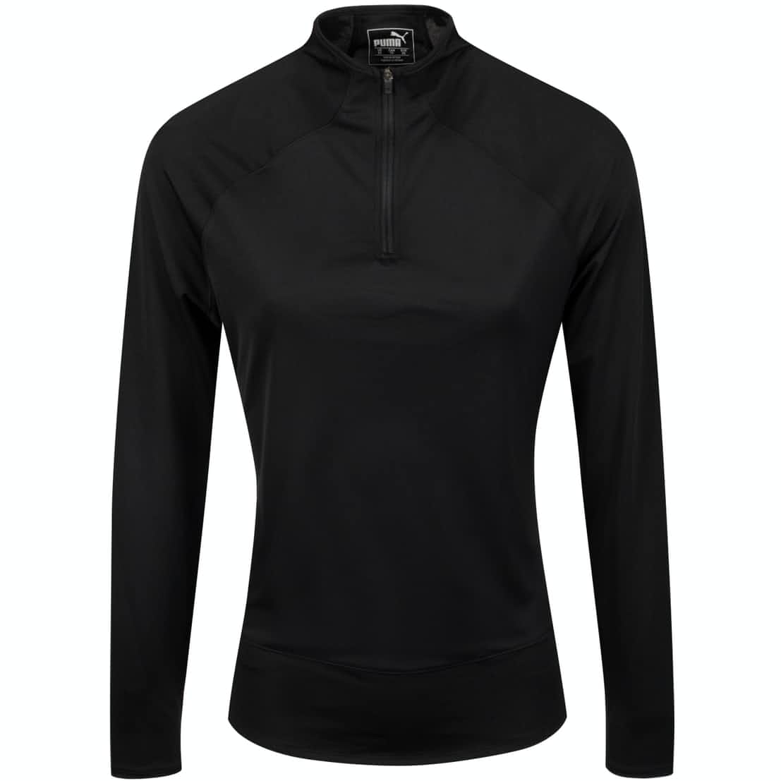 Womens Mesh Quarter Zip Black - SS20