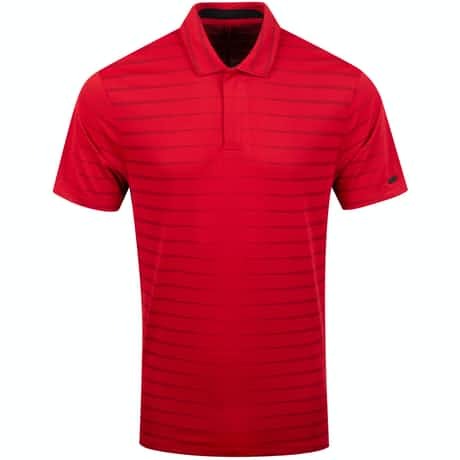TW Dry Vapor Novelty Stripe Polo Gym Red - SS20