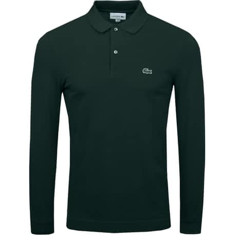 LS Slim Fit Pique Polo Sinople - AW19
