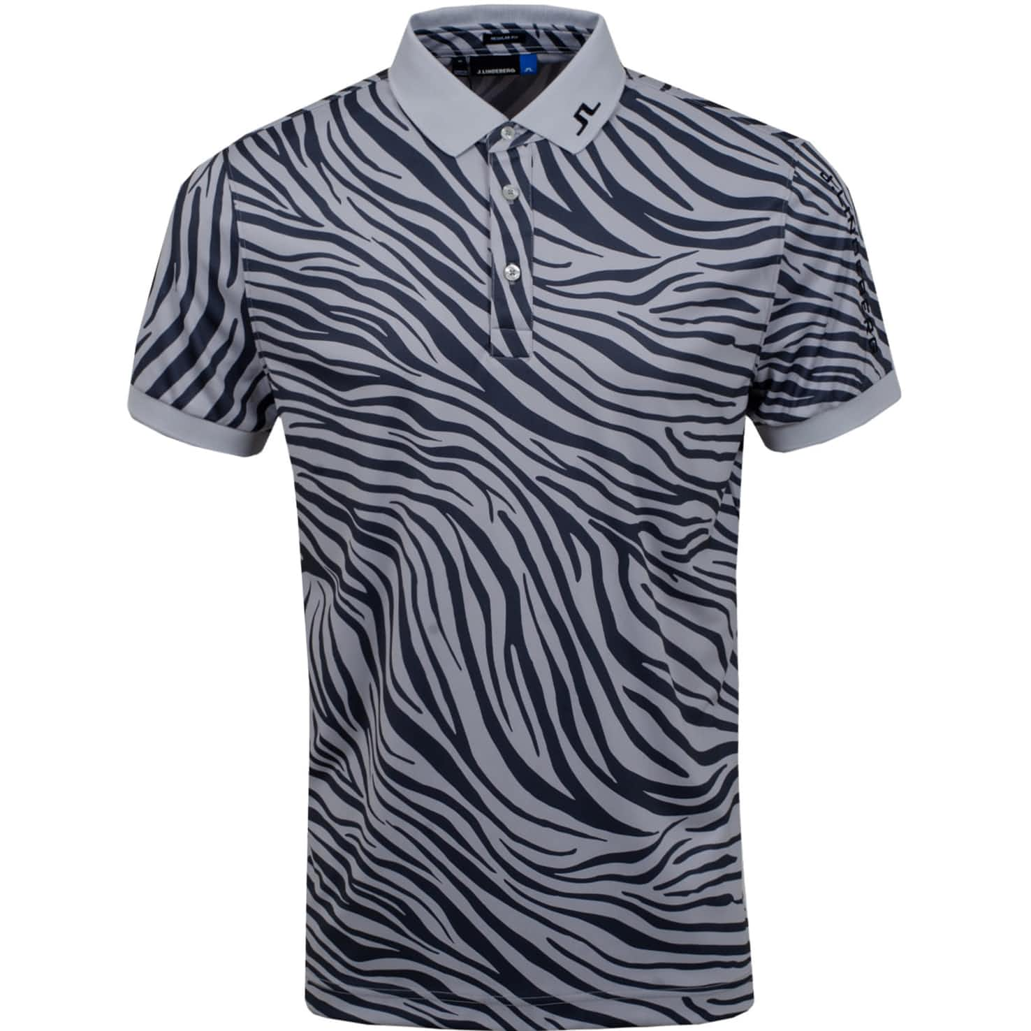 Tour Tech Print Slim Fit TX Jersey Zebra Worl Grey - SS20