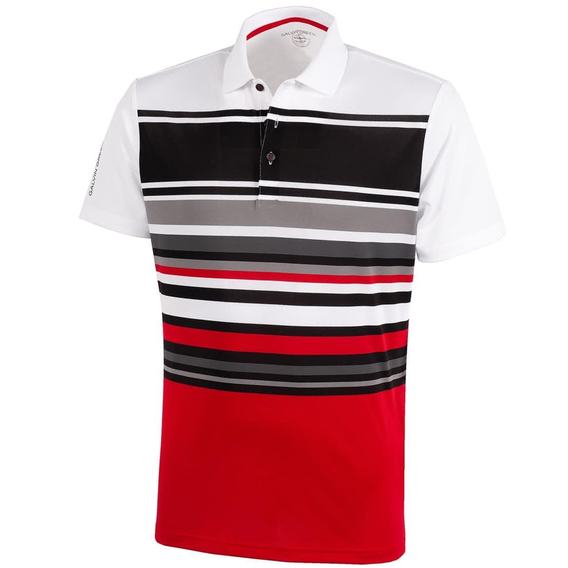 Miguel Ventil8+ Polo White/Red/Sharkskin - 2020