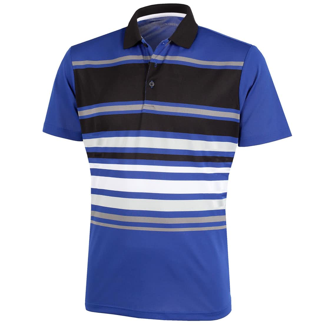 Miguel Ventil8+ Polo Surf Blue/Black/White - SS20