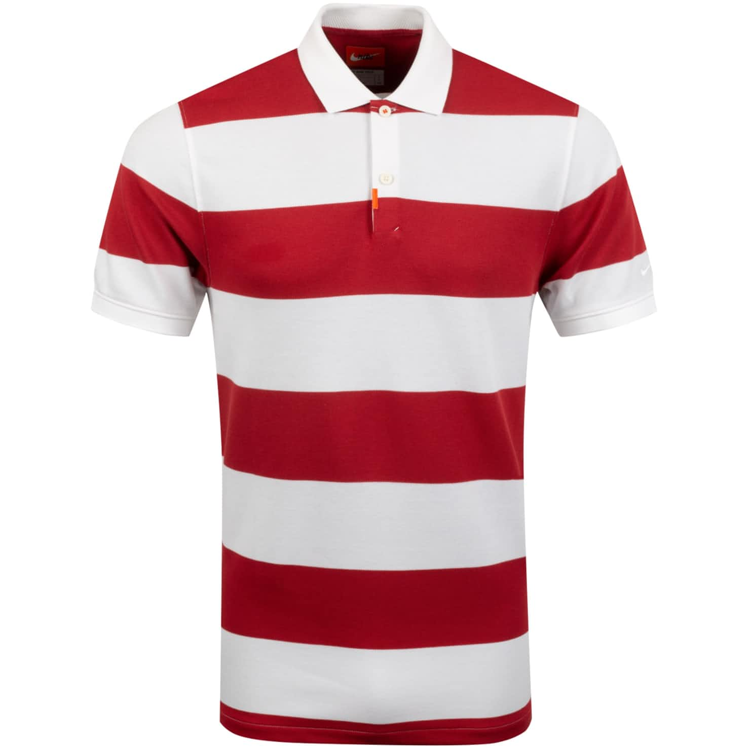 The Golf Slim Stripe Polo Sierra Red/White - SS20