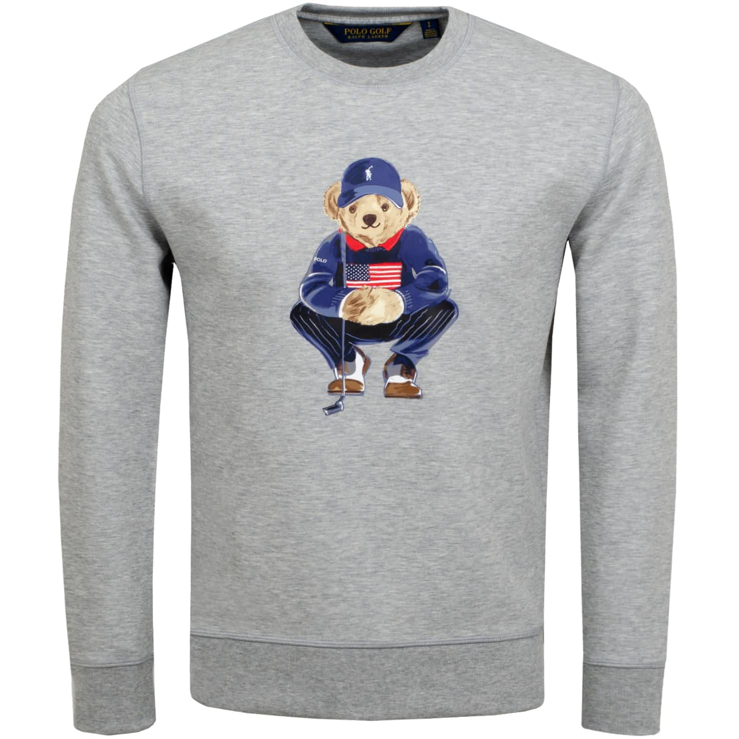Bear Double Knit Crew Sweat Light Grey Heather - SS20