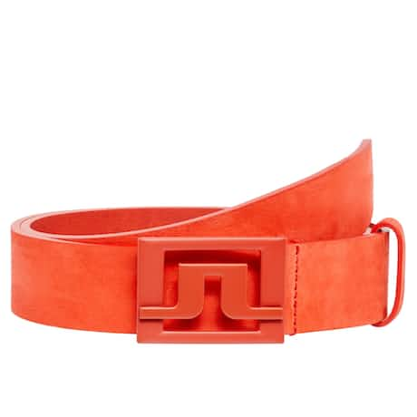 Slater 40 Brushed Leather Belt Tomato Red - SS20