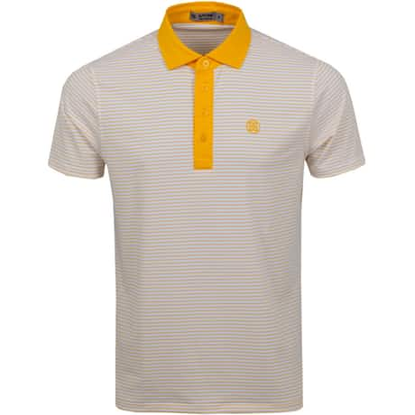 Narrow Stripe Polo Saffron - SS20
