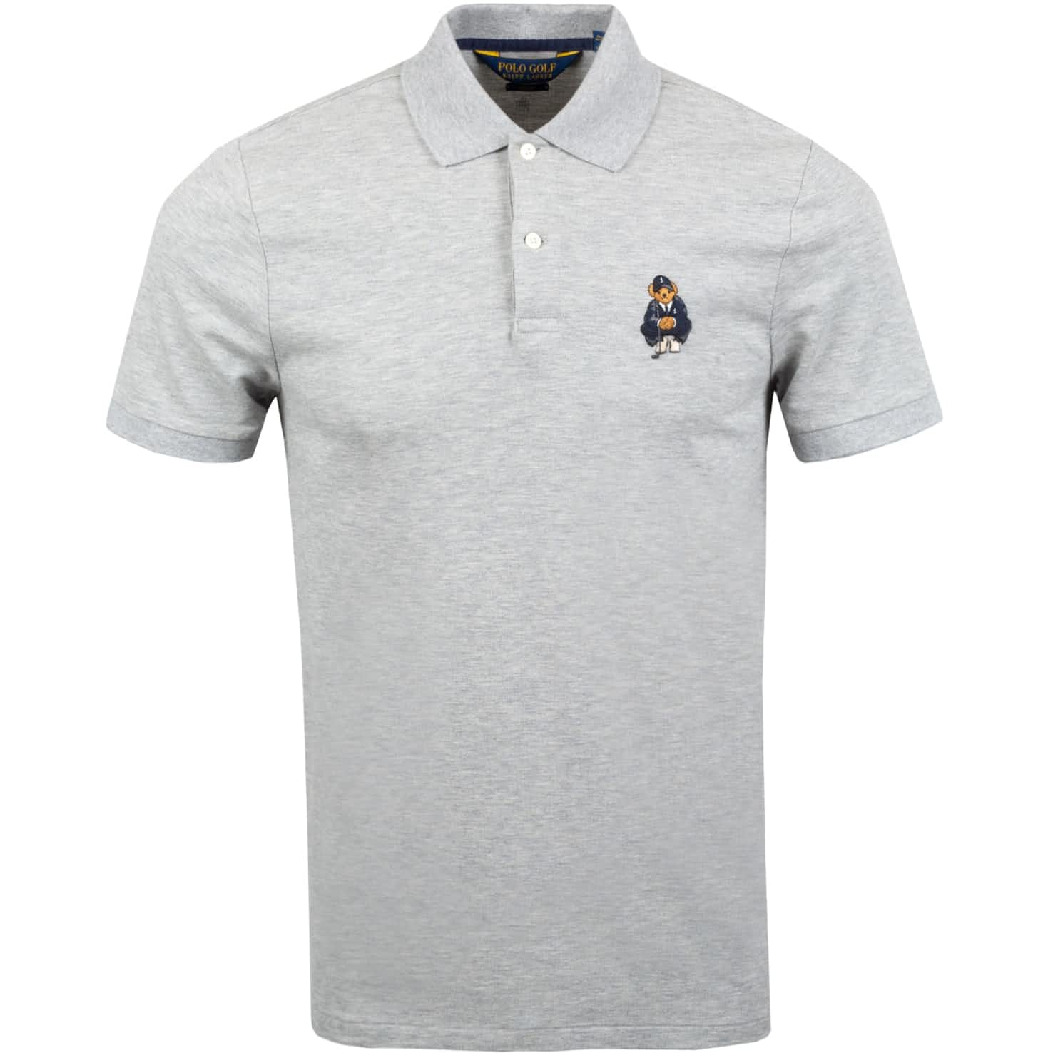 Bear Stretch Mesh Polo Light Grey Heather - SS20