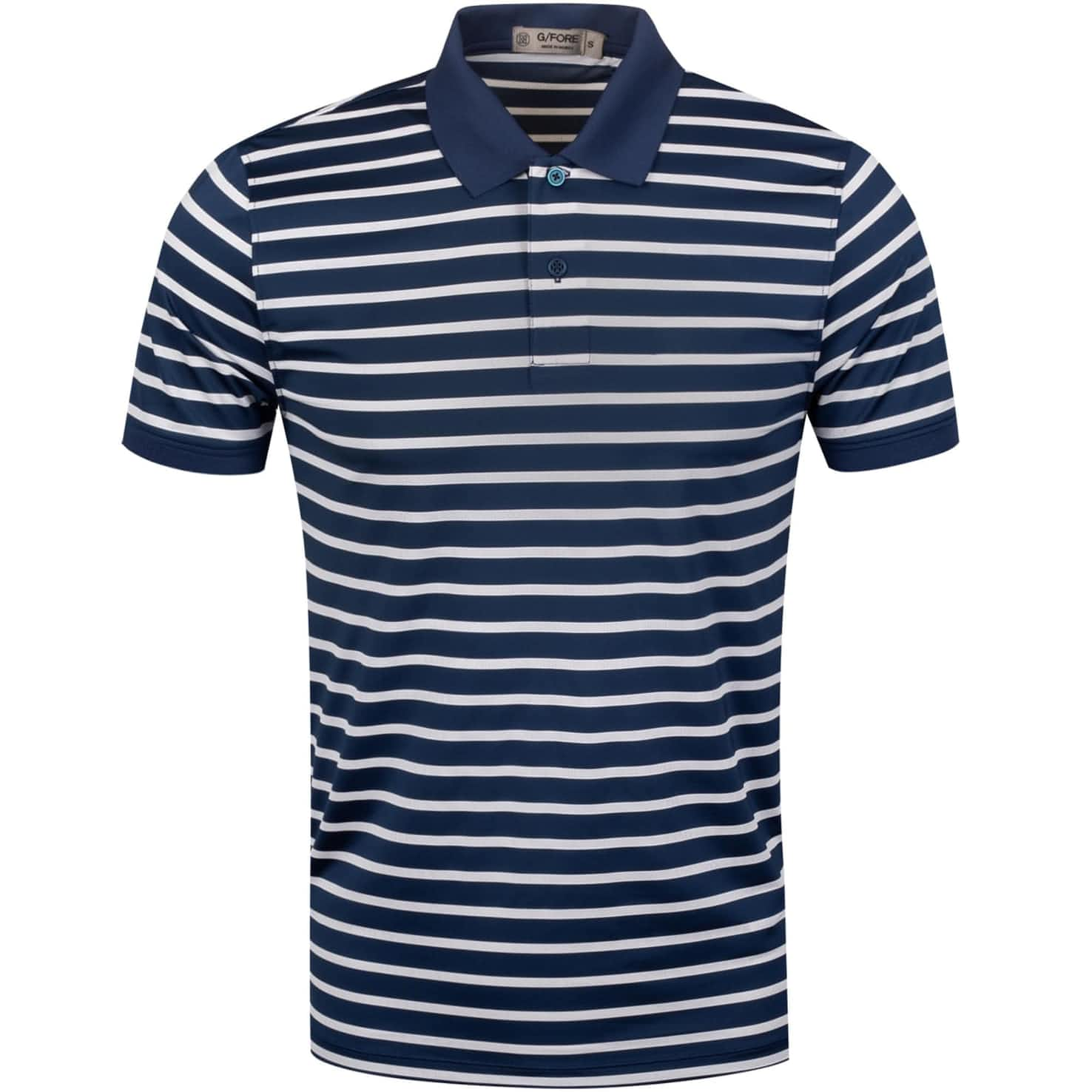Perforated Wide Stripe Polo Twilight/Snow - SS20