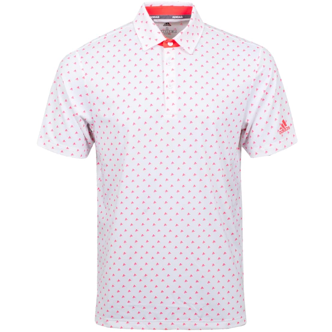 Sport Ultimate 365 Print Polo White/Flash Red - SS20