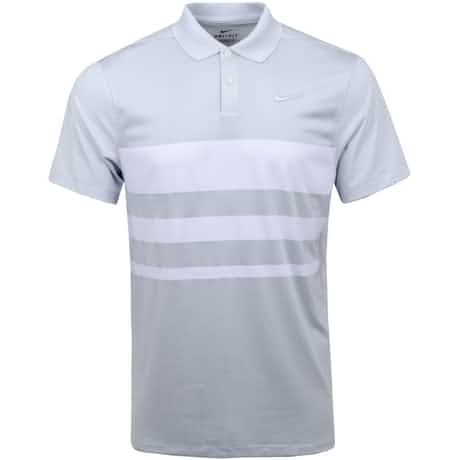 Dry Vapor Stripe Polo Pure Platinum  - SS20