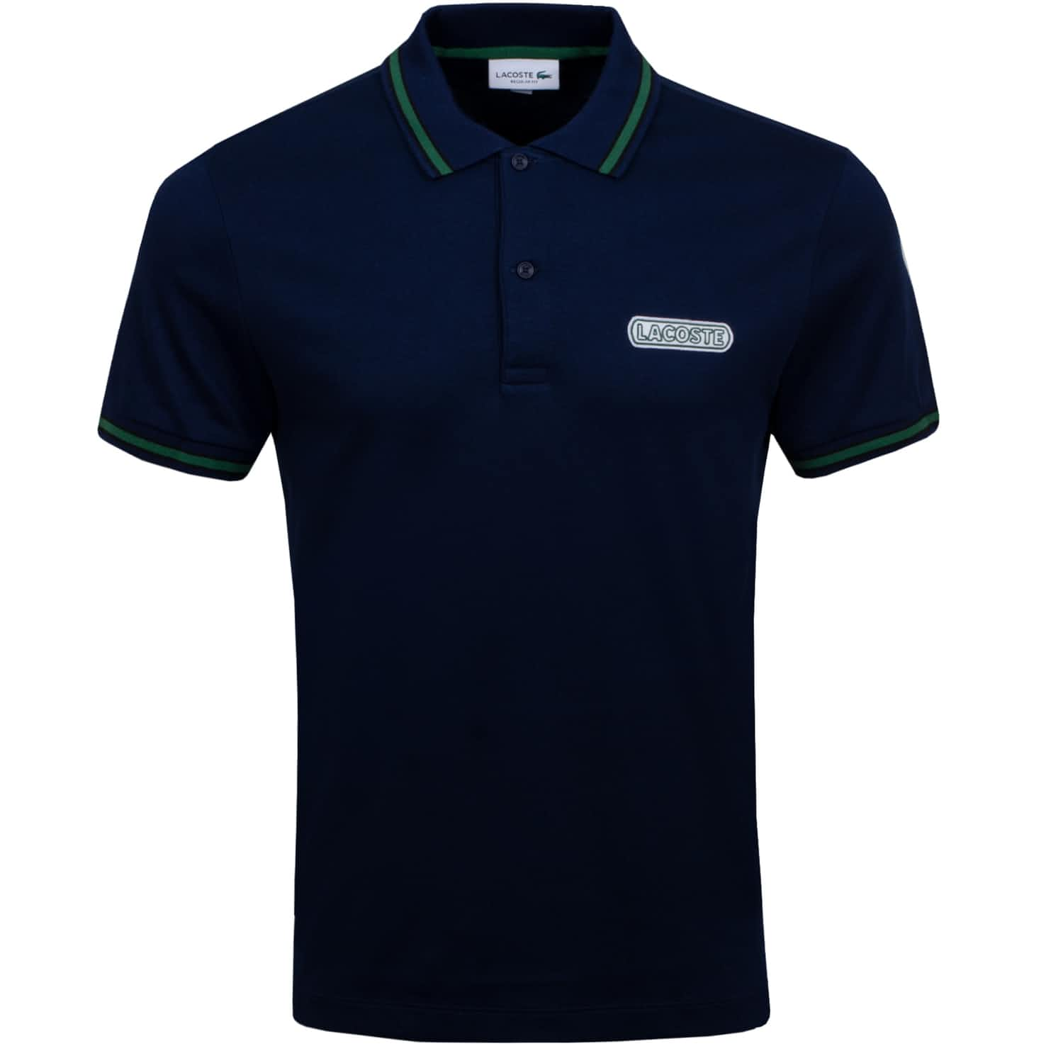 Tipped Patch Polo Navy - SS20