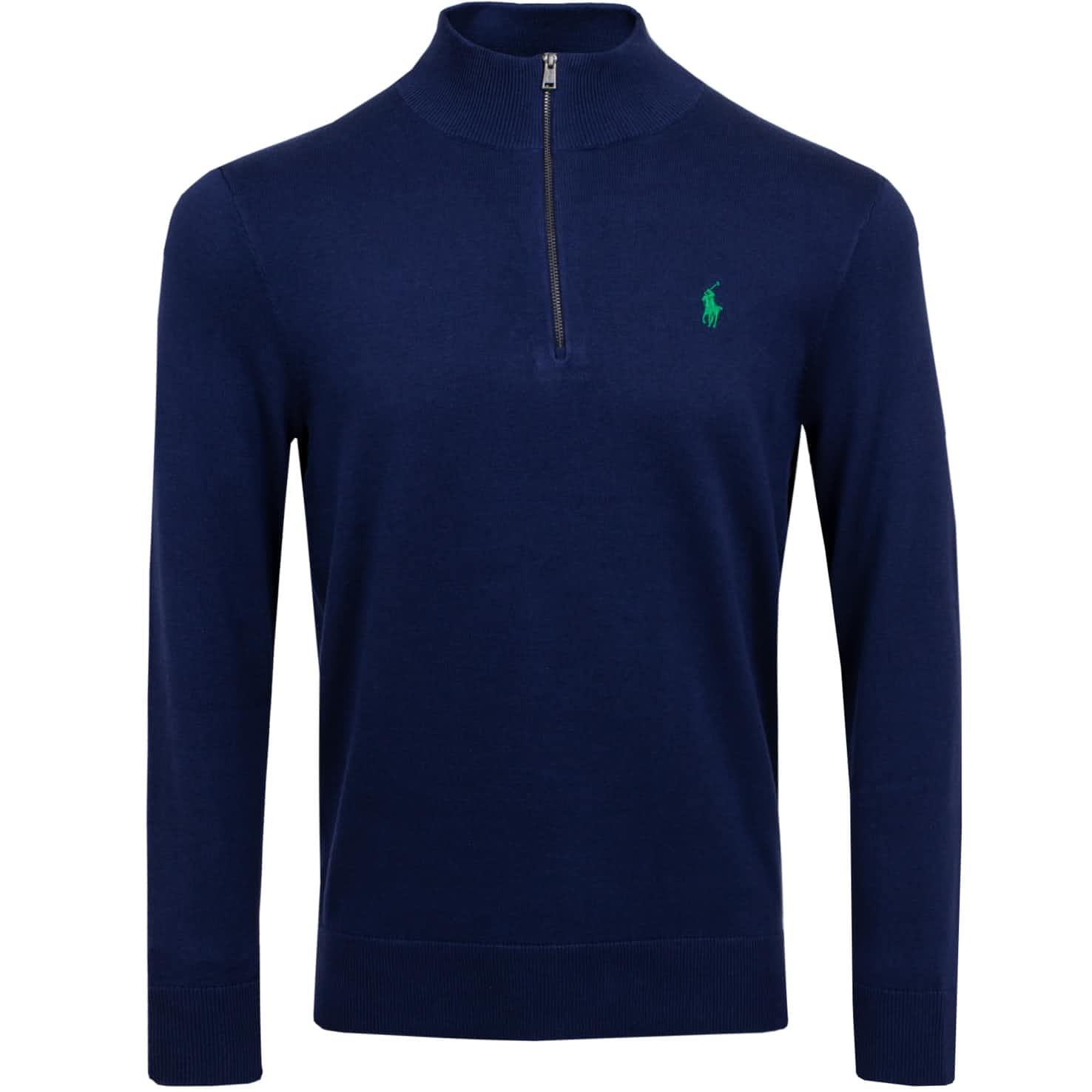 Pima Cotton Quarter Zip Pullover French Navy - SS20