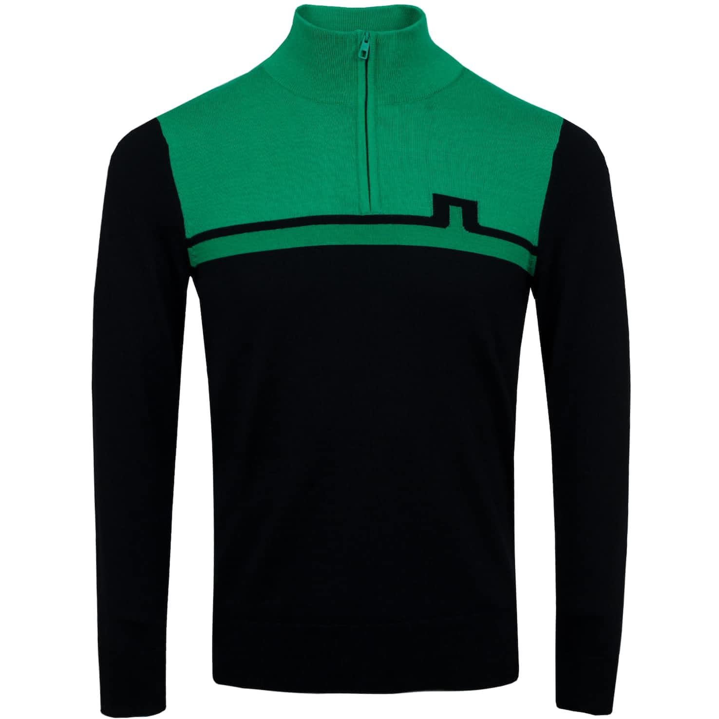 Theo Quarter Zip Wool Coolmax Stan Green - SS20