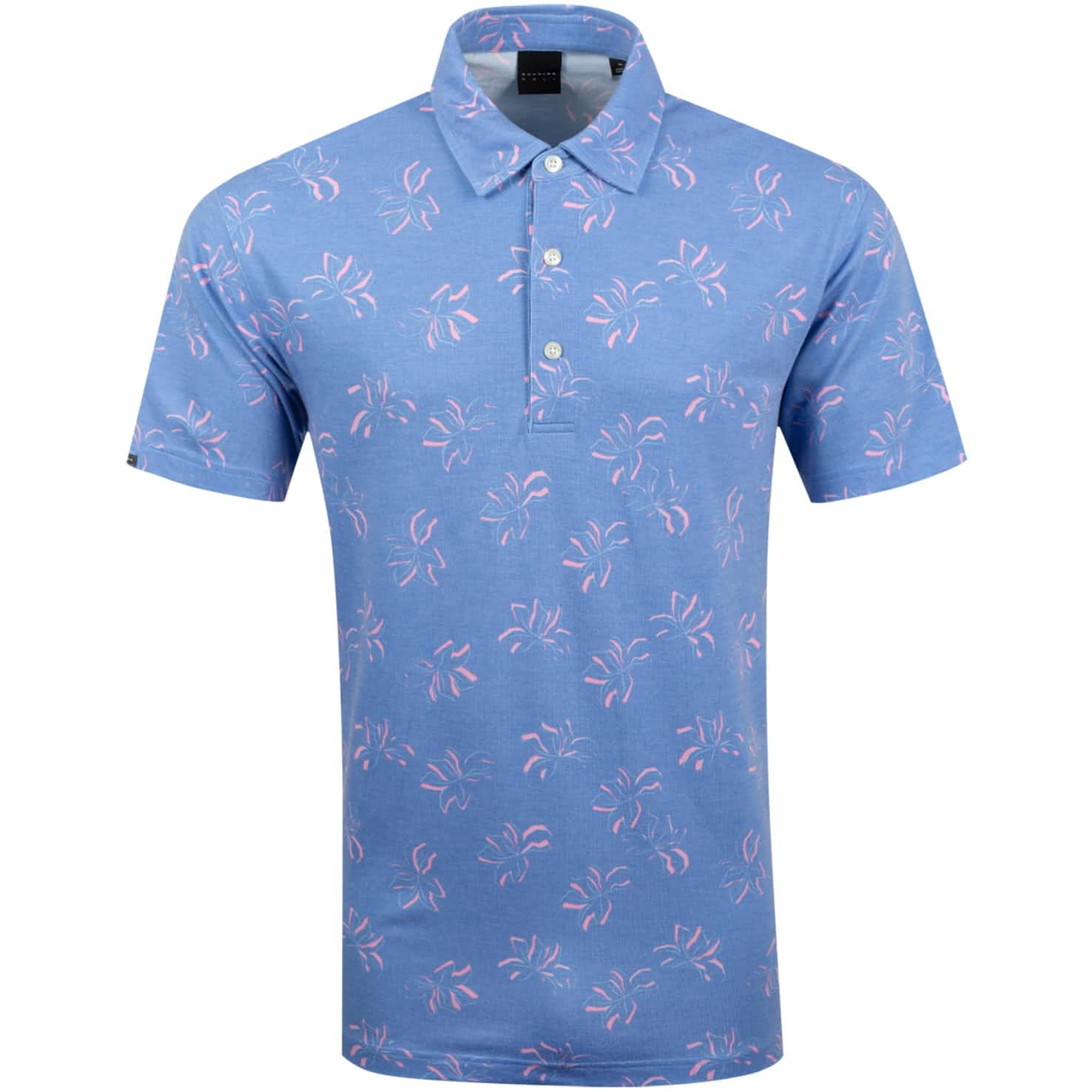 Forres Golf Polo Surf Blue/Light Pink/White - SS20