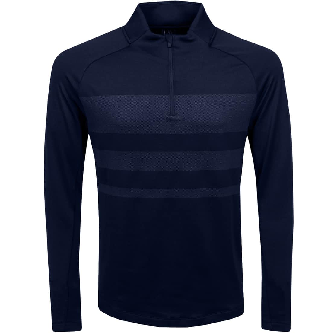 Dry Half Zip Statement Top Obsidian/Diffused Blue - SS20