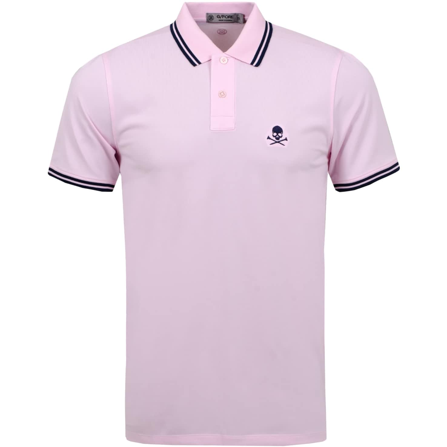 x TRENDYGOLF Skull Tipped Polo Blush/Twilight - SS20