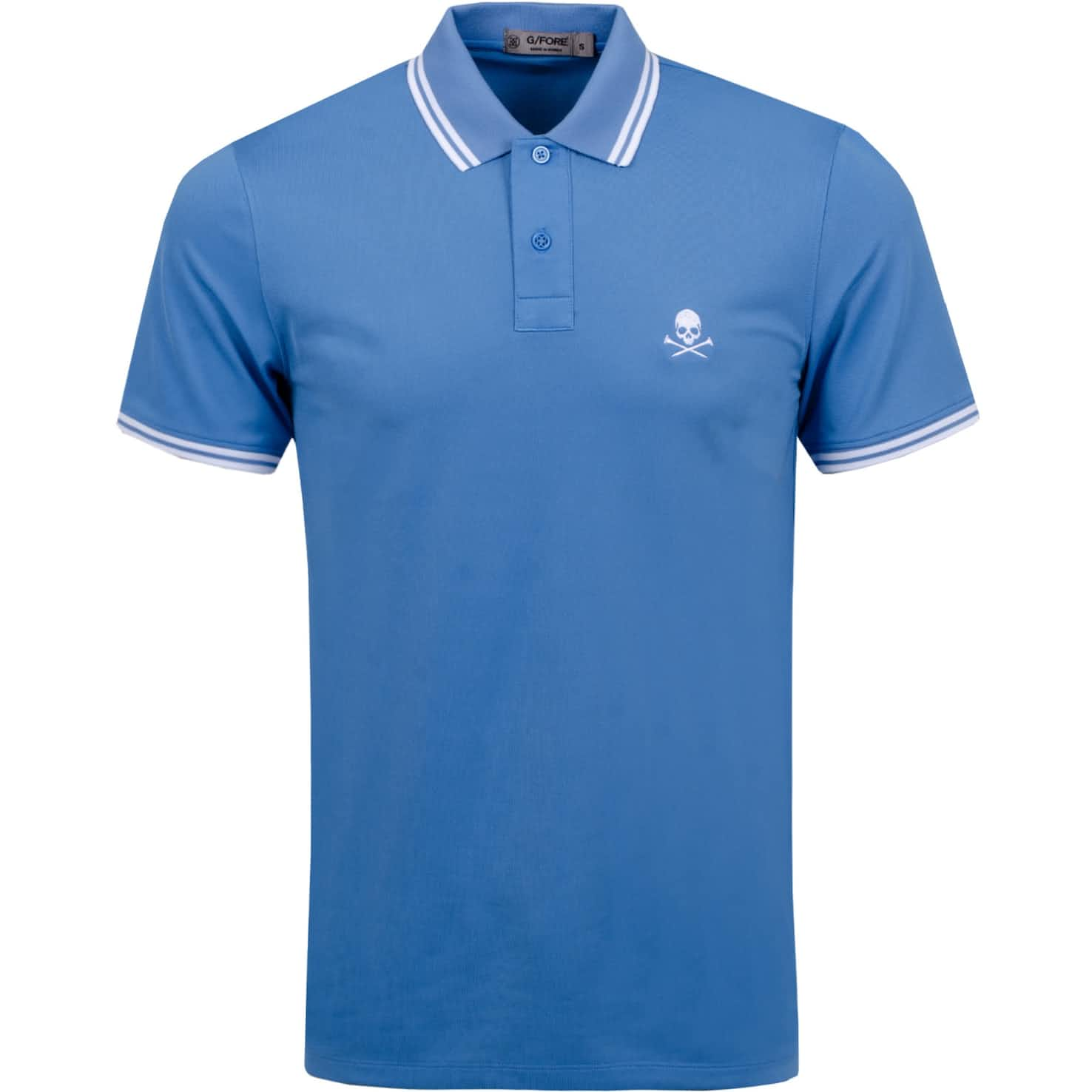 x TRENDYGOLF Skull Tipped Polo Pacific Coast/Snow - SS20