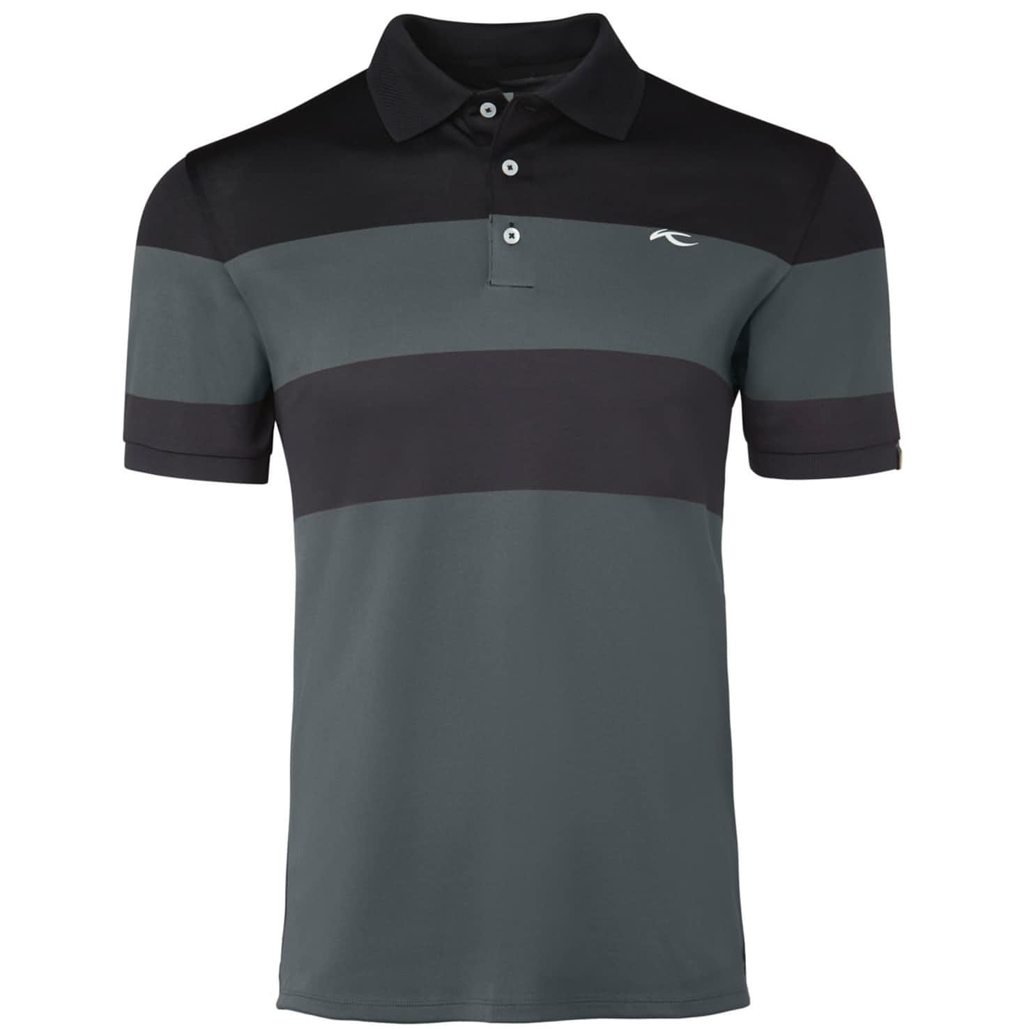 Luan Colourblock Polo Steel Grey/Black - SS20