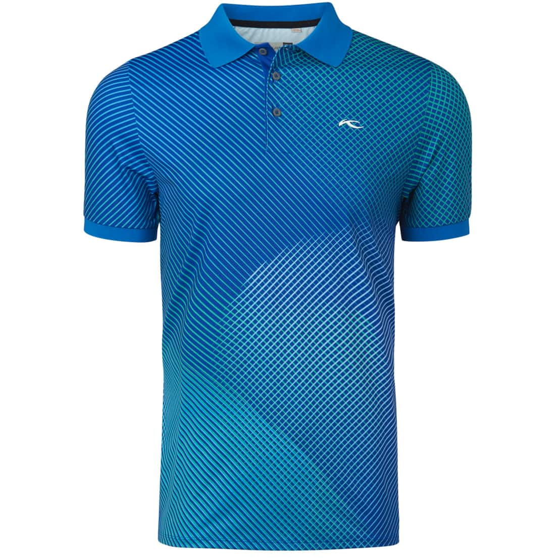 Spot Printed Polo Strong Blue - SS20