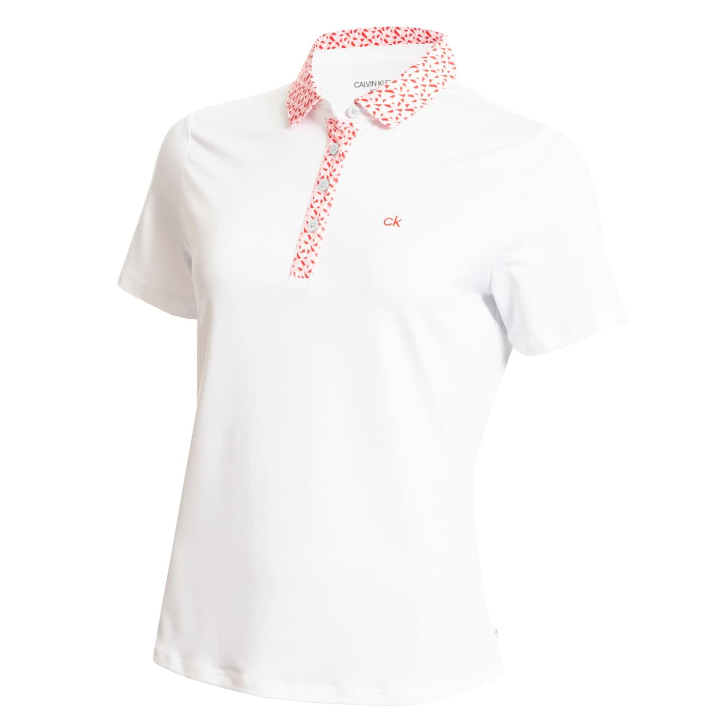 Womens Crest Polo White/Scarlet - SS20