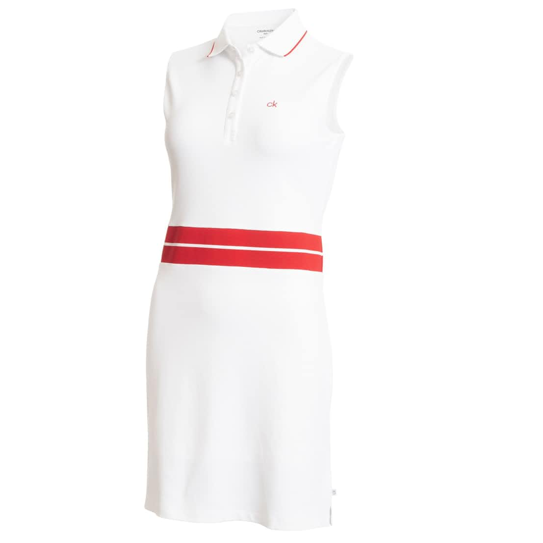Womens Zulu Dress White/Scarlet - SS20