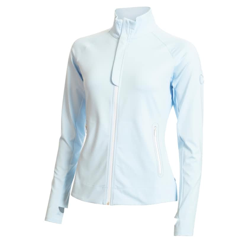 Womens Tuscan Tech Top Powder Blue - SS20