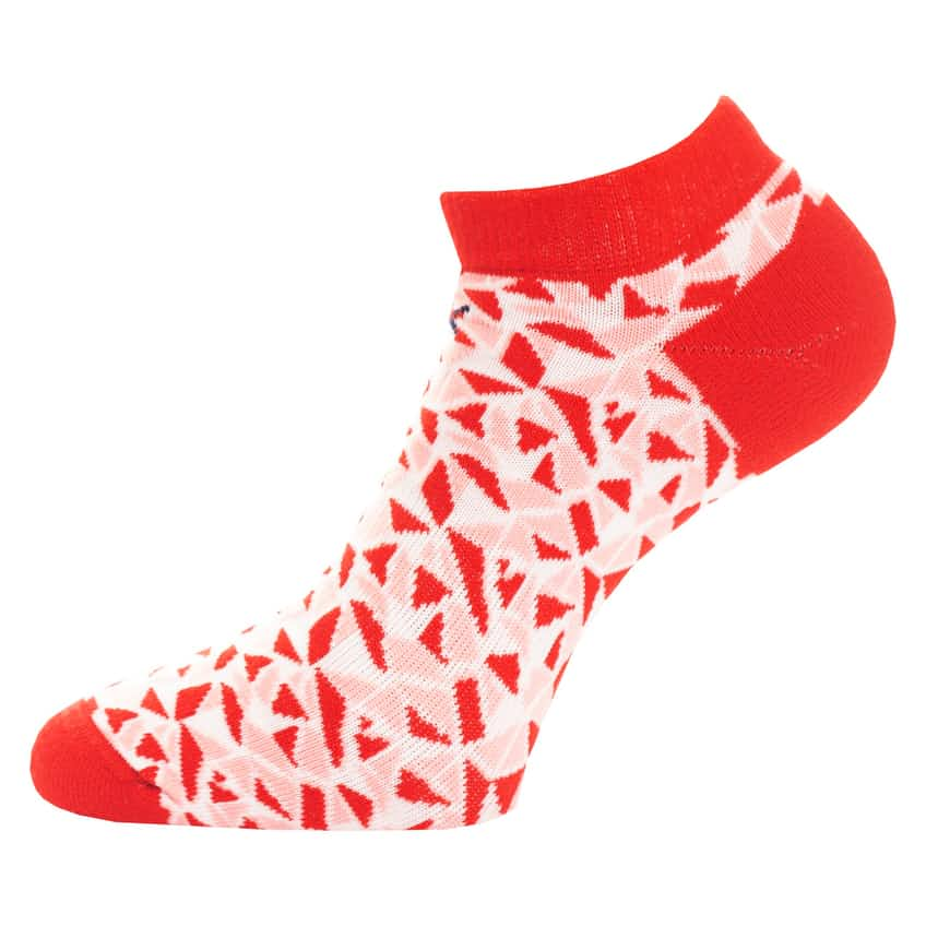 Womens Tech Socks Two Pack Scarlet/White - SS20