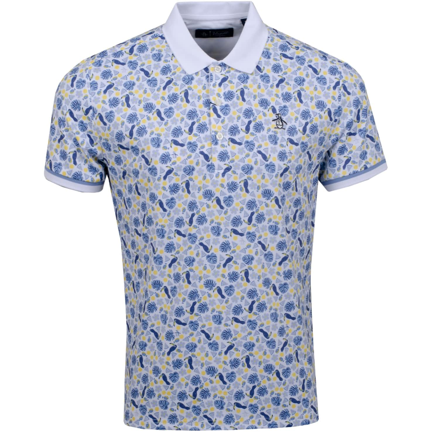 Pete In Paradise Printed Polo Bright White - SS20