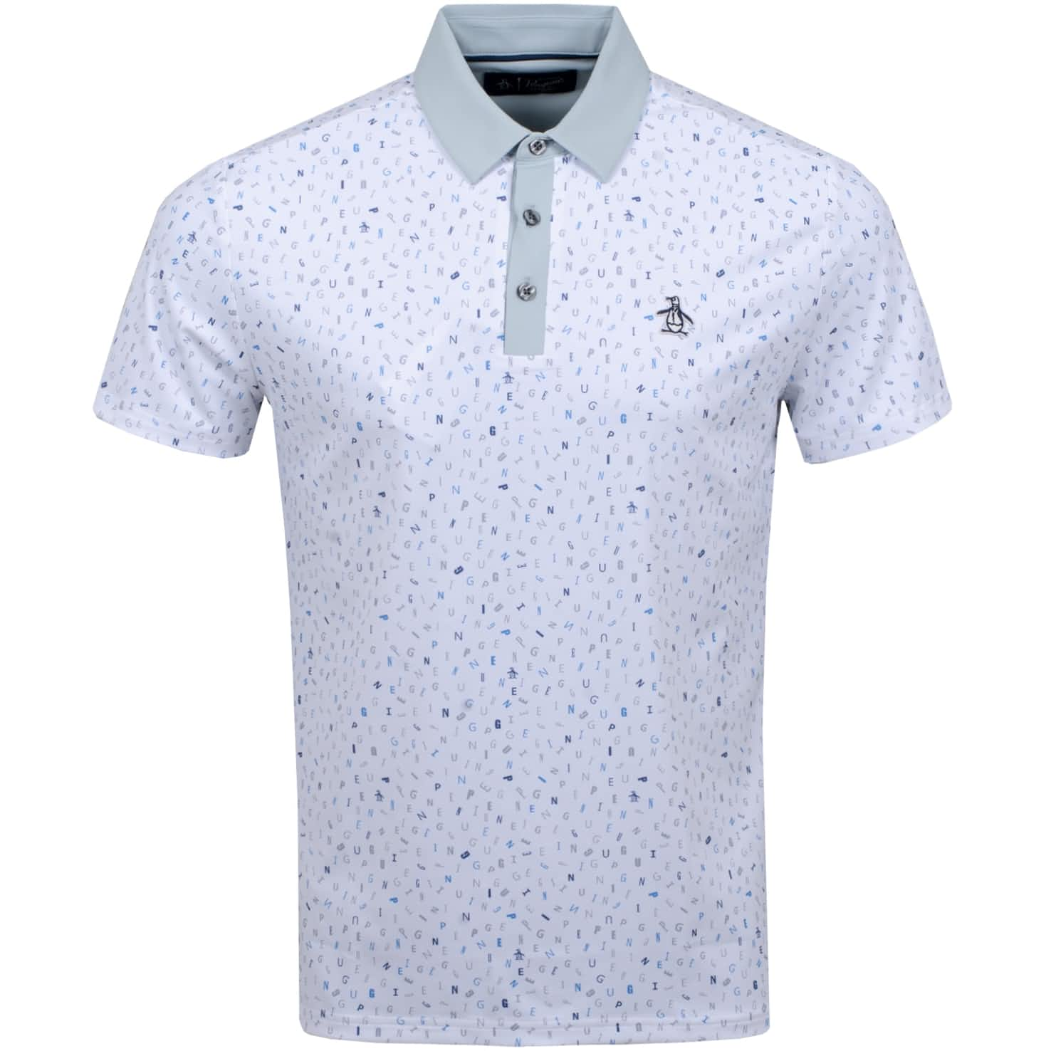 Spelling Pete Printed Polo Bright White - SS20