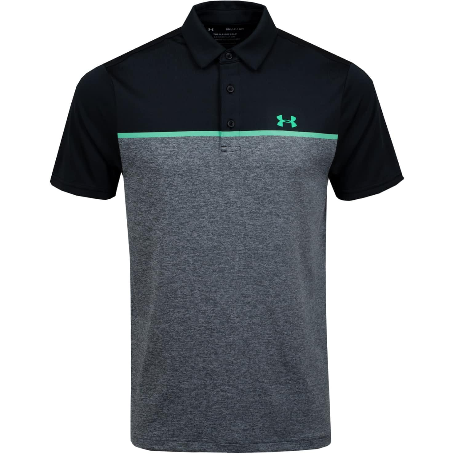 Playoff Polo 2.0 Chest Engineered Black/Pitch Grey/Vapor Green - SS20