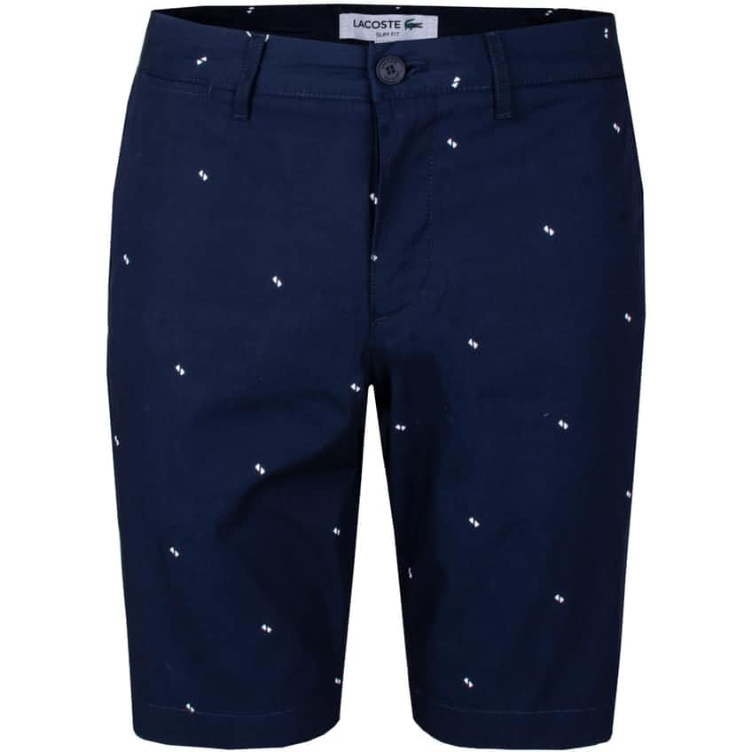 Printed Slim Fit Chino Shorts Navy - SS20
