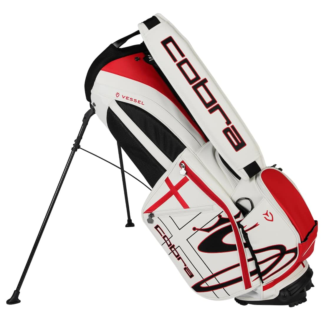 Limited Edition The Open Stand Bag White/High Risk Red - SS20