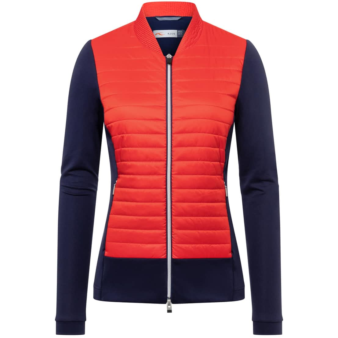Womens Retention Jacket Fiery Red/Atlanta Blue - AW20